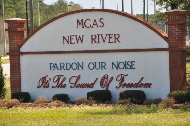 MCAS New River sign
