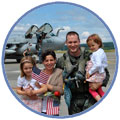 Air Force Dad with Family