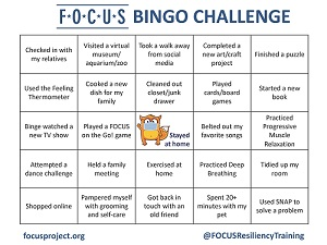 FOCUS Bingo Card Click to Download the PDF