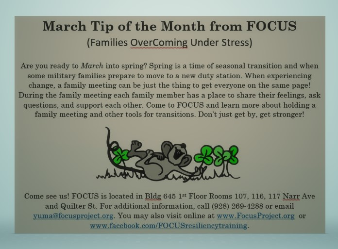 March Tip of the Month